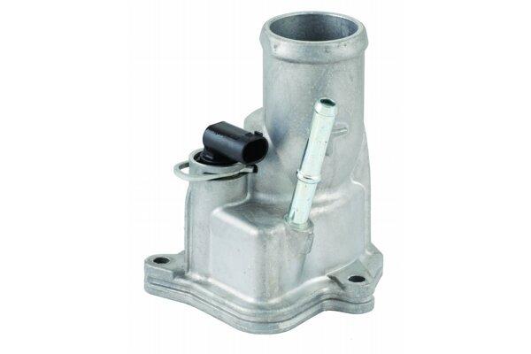 Termostat vsebuje cilinder, ki je napolnjen z voskom
